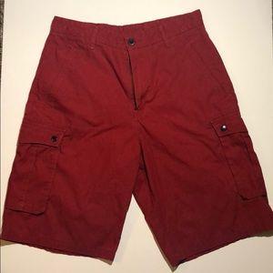 Red Levi Strauss Cargo Shorts